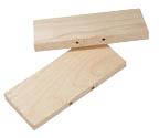 Hardwood Body Grip Pans 160/220 size
