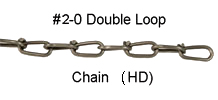 # 2-0 Double Loop Chain (H.D.) - 100 ft.