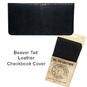 Beaver Tail Leather Checkbook Cover