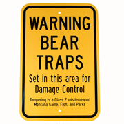 Bear Traps Warning Sign