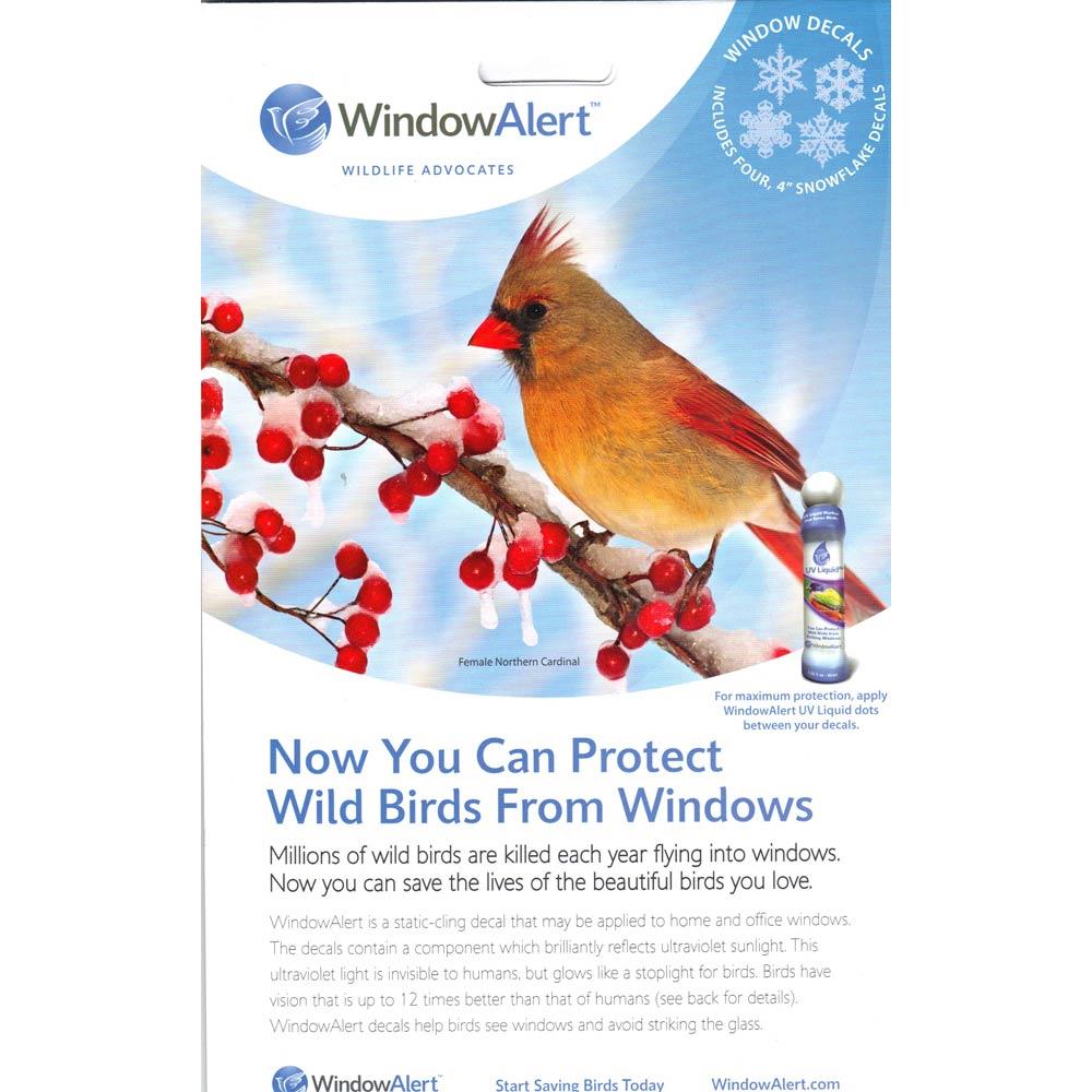 WindowAlert Window Decal Pack Wildlife Control Supplies - Invisible window decals for birds