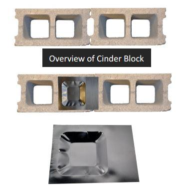 Xcluder™ Pest Control Cinder Block Caps - Case of 50