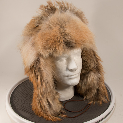 Coyote Fur Trooper (aka Russian) Style Hat
