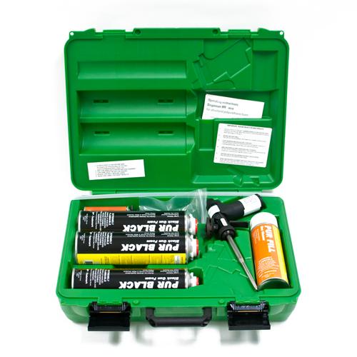 Foam Gun kit w/ Green Plastic case