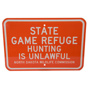 State Game Refuge Sign
