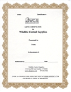 WCS Gift Certificate