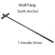 Wolf Fang Earth Anchor Driver - T Handle
