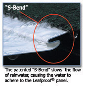 Patented S-Bend slows the flow of water